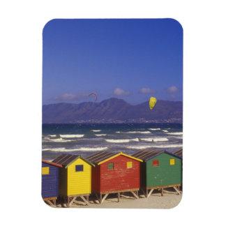 St. James Bay Bathing Boxes, near Capetown, 2 Rectangular Photo Magnet