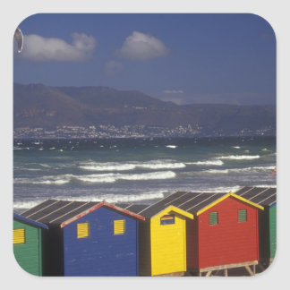 St. James Bay Bathing Boxes, near Capetown, Square Sticker