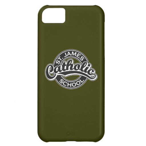 St. James Catholic School Black and White Cover For iPhone 5C