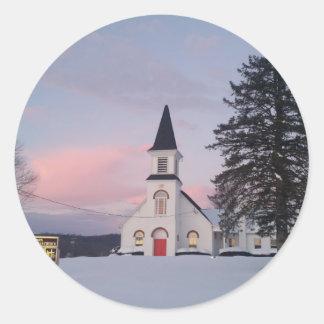 St James Lutheran Church Classic Round Sticker