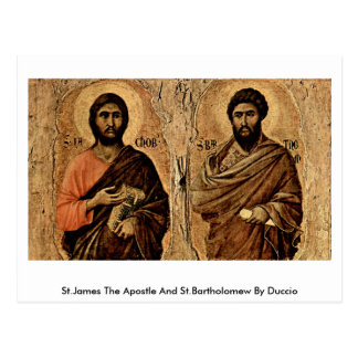 St.James The Apostle And St.Bartholomew By Duccio Postcard