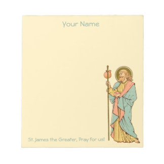 """St. James the Greater (RLS 05) 5.5""""x6"""" Notepad"""