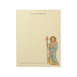 """St. James the Greater (RLS 05) 8.5""""x11"""" Notepad"""
