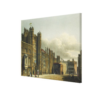 St. James's Palace, from 'The History of the Royal Canvas Print