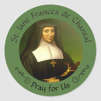 St. Jane Frances de Chantal Feast Aug. 12 Classic Round Sticker