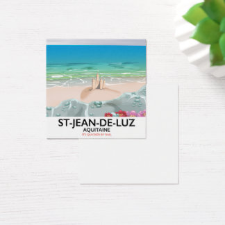 St-Jean-de-Luz, Aquitaine Travel poster Square Business Card