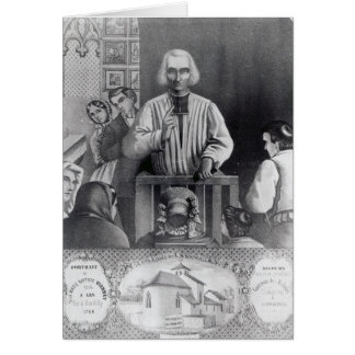 St. Jean-Marie Vianney  preaching, 19th century Card
