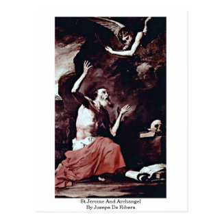 St.Jerome And Archangel By Jusepe De Ribera Postcard