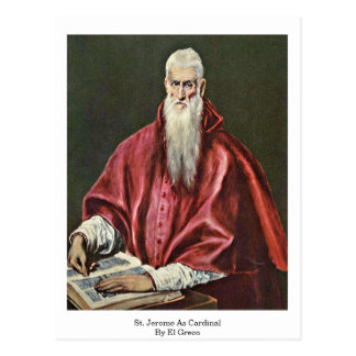 St. Jerome As Cardinal By El Greco Postcard