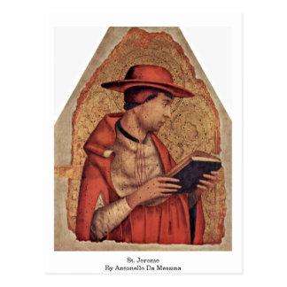 St. Jerome By Antonello Da Messina Postcard
