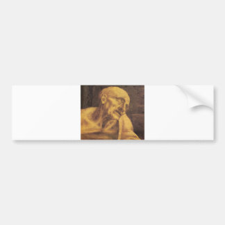 St. Jerome by Leonardo da Vinci circa 1481 Car Bumper Sticker