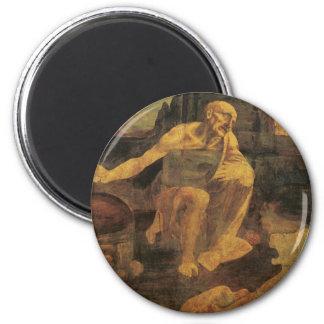 St. Jerome by Leonardo da Vinci circa 1481 Magnet