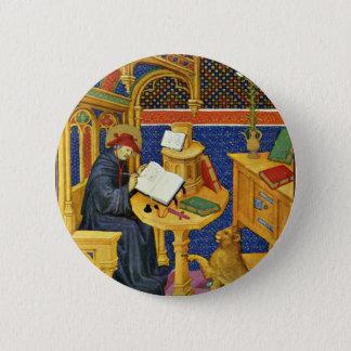 St. Jerome By Meister Des Maréchal De Boucicaut (B 6 Cm Round Badge