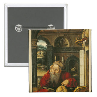 St. Jerome in his Study 15 Cm Square Badge