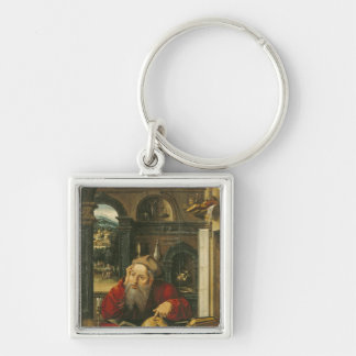 St. Jerome in his Study Silver-Colored Square Key Ring