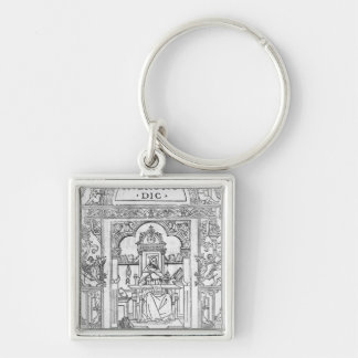St. Jerome in his Study Key Ring