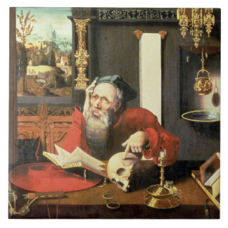 St. Jerome in his Study Tile