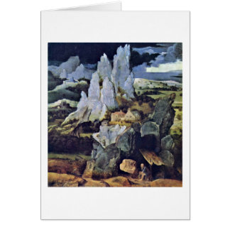 St. Jerome In Rocky Landscape By Joachim Patinir Greeting Cards