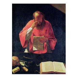 St.Jerome reading Postcard