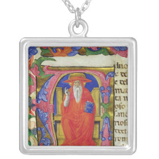 St. Jerome Silver Plated Necklace