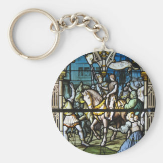St. Joan at Orleans Basic Round Button Key Ring