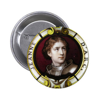 St. Joan of Arc 6 Cm Round Badge