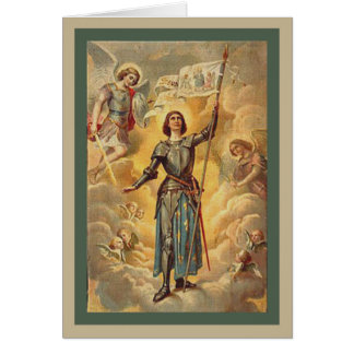 St. Joan of Arc St. Michael Angels Soldier Card