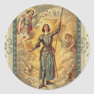 St. Joan of Arc St. Michael Angels Soldier Classic Round Sticker