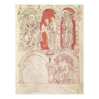 St. John Cassian writing and monks offering Postcard