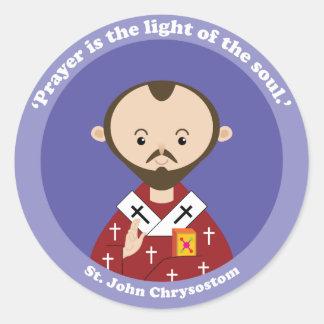 St. John Chrysostom Classic Round Sticker