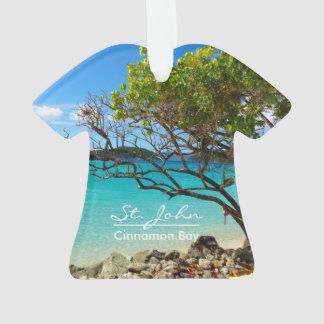 St. John Cinnamon Bay Beach Shirt Ornament
