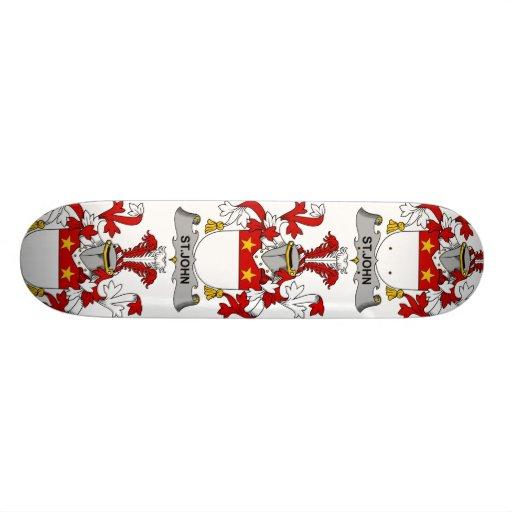 St. John Family Crest Custom Skate Board