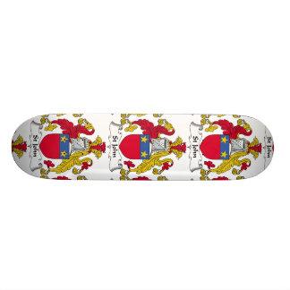 St John Family Crest Skateboards