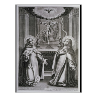 St. John of the Cross and St. Theresa of Avila Poster