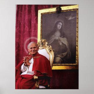 ST JOHN PAUL II AND MADONNA. POSTER