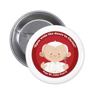St John Paul II Pinback Button