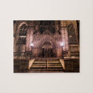 St. John's Episcopal Church at night Jigsaw Puzzle