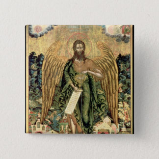 St. John the Baptist, Angel of the Wilderness 15 Cm Square Badge
