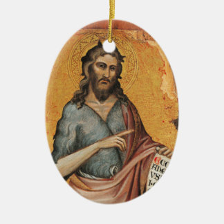 St. John the Baptist Ceramic Ornament