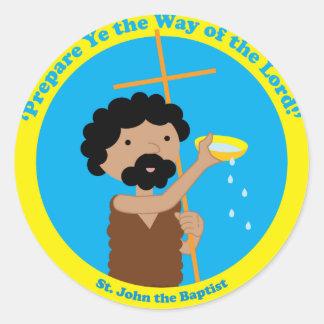 St. John the Baptist Classic Round Sticker