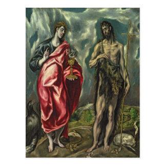 St John the Evangelist and St. John the Baptist Postcard