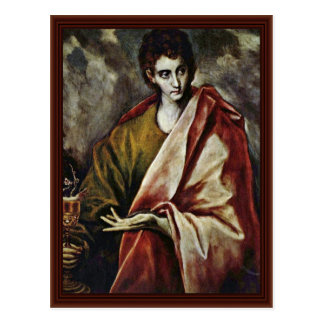 St. John The Evangelist By Greco El Postcard