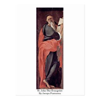 St. John The Evangelist By Jacopo Pontormo Postcard