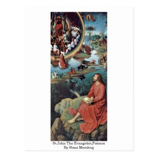 St.John The Evangelist,Patmos By Hans Memling Postcard
