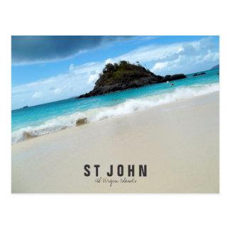 St John US Virgin Islands Beach Postcard