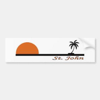 St. John, US Virgin Islands Car Bumper Sticker