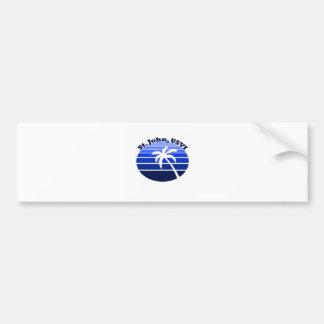 St. John, USVI Car Bumper Sticker