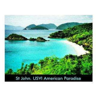 St John usvi Trunk Bay American Paradise postcard