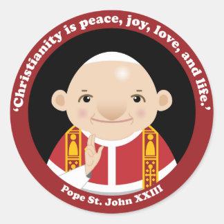 St. John XXIII Classic Round Sticker