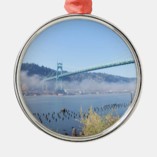 St. Johns Bridge, Beautiful Portland Oregon Metal Ornament